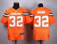 Nike Cleveland Browns -32 Jim Brown Orange Alternate Men's Stitched NFL New Elite Jersey