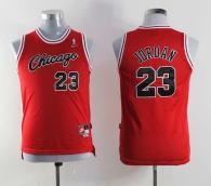Nike Chicago Bulls #23 Michael Jordan Red Throwback Stitched Youth NBA Jersey