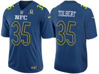 2017 PRO BOWL NFC MIKE TOLBERT BLUE GAME JERSEY