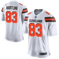 Nike Cleveland Browns -83 Brian Hartline White Men's Stitched NFL New Elite Jersey