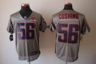 Nike Houston Texans #56 Brian Cushing Grey Shadow With 10th Patch Men's Stitched NFL Elite Jersey