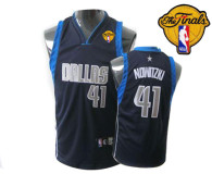 Dallas Mavericks 2011 Finals Patch #41 Dirk Nowitzki Dark Blue Stitched Youth NBA Jersey