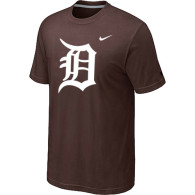 MLB Detroit Tigers Heathered Brown Nike Blended T-Shirt