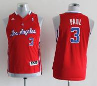 Los Angeles Clippers #3 Chris Paul Red Stitched Youth NBA Jersey