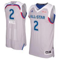 Washington Wizards -2 John Wall Gray 2017 All Star Stitched NBA Jersey
