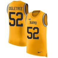 Nike Rams -52 Alec Ogletree Gold Stitched NFL Limited Rush Tank Top Jersey