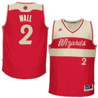 Washington Wizards -2 John Wall Red 2015-2016 Christmas Day Stitched NBA Jersey