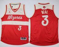 Washington Wizards -3 Bradley Beal Red 2015-2016 Christmas Day Stitched NBA Jersey