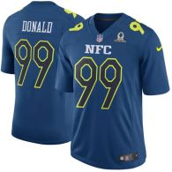 Nike Rams -99 Aaron Donald Navy Stitched NFL Game NFC 2017 Pro Bowl Jersey