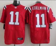 Nike New England Patriots -11 Julian Edelman Red Alternate Mens Stitched NFL Elite Jersey