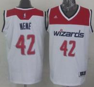 Revolution 30 Washington Wizards -42 Nene White Stitched NBA Jersey