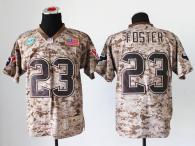 Nike Houston Texans #23 Arian Foster Camo Men's Stitched NFL New Elite USMC Jersey