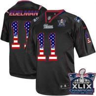Nike New England Patriots -11 Julian Edelman Black Super Bowl XLIX Champions Patch Mens Stitched NFL