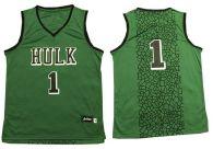 The Hulk -1 Green Stitched Basketball Jersey