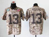 NEW Miami Dolphins -13 Dan Marino Camo NFL Elite USMC Jersey(USA)