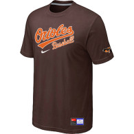 Baltimore Orioles Brown Nike Short Sleeve Practice T-Shirt