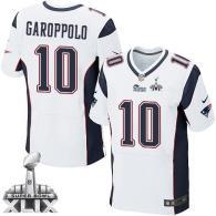 Nike New England Patriots -10 Jimmy Garoppolo White Super Bowl XLIX Mens Stitched NFL Elite Jersey