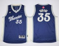 Oklahoma City Thunder #35 Kevin Durant Blue 2015-2016 Christmas Day Stitched Youth NBA Jersey