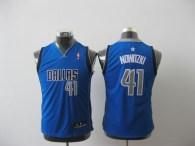 Dallas Mavericks #41 Dirk Nowitzki Baby Blue Stitched Youth NBA Jersey