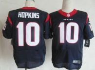 Nike Houston Texans #10 DeAndre Hopkins Navy Blue Team Color Men's Stitched NFL Elite Jersey