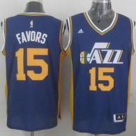Revolution 30 Utah Jazz -15 Derrick Favors Navy Blue Stitched NBA Jersey