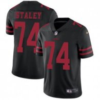 Nike 49ers -74 Joe Staley Black Alternate Stitched NFL Vapor Untouchable Limited Jersey