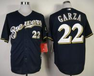 Milwaukee Brewers -22 Matt Garza Navy Blue Cool Base Stitched MLB Jersey