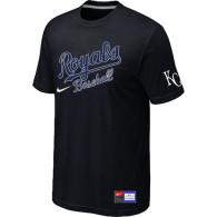 MLB Kansas City Royals Black Nike  Short Sleeve Practice T-Shirt