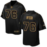 Nike Seahawks -76 Germain Ifedi Black Stitched NFL Elite Pro Line Gold Collection Jersey
