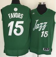 Utah Jazz -15 Derrick Favors Green 2016-2017 Christmas Day Stitched NBA Jersey