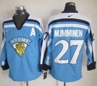 Winnipeg Jets -27 Teppo Numminen Light Blue Nike Throwback Stitched NHL Jersey