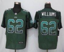 New Nike New York Jets -62 Leonard Williams Drift Fashion Green Elite Jerseys