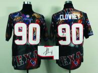 Nike Houston Texans #90 Jadeveon Clowney Team Color NFL Elite Fanatical Version Autographed Jersey