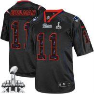 Nike New England Patriots -11 Julian Edelman New Lights Out Black Super Bowl XLIX Mens Stitched NFL