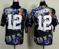 Nike Indianapolis Colts #12 Andrew Luck Team Color Men's Stitched NFL Elite Fanatical Version Jersey