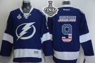 Tampa Bay Lightning -9 Tyler Johnson Blue USA Flag Fashion 2015 Stanley Cup Stitched NHL Jersey