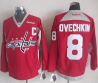 Washington Capitals -8 Alex Ovechkin Red Practice Stitched NHL Jersey