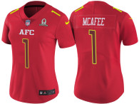 WOMEN'S AFC 2017 PRO BOWL INDIANAPOLIS COLTS #1 PAT MCAFEE RED GAME JERSEY