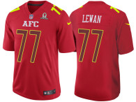 2017 PRO BOWL AFC TAYLOR LEWAN RED GAME JERSEY