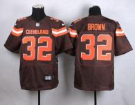 Nike Cleveland Browns -32 Jim Brown Brown Team Color Men's Stitched NFL New Elite Jersey