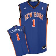 New York Knicks #1 Amar'e Stoudemire Blue Stitched Youth NBA Jersey
