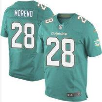 Nike Miami Dolphins -28 Knowshon Moreno Aqua Green Team Color NFL Elite Jersey
