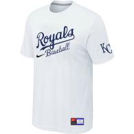 MLB Kansas City Royals White Nike  Short Sleeve Practice T-Shirt