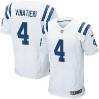 Nike Indianapolis Colts #4 Adam Vinatieri White Men's Stitched NFL Elite Jersey