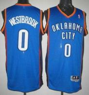 Oklahoma City Thunder #0 Russell Westbrook Blue Stitched Youth NBA Jersey