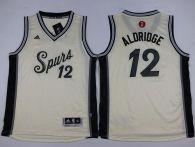 San Antonio Spurs #12 LaMarcus Aldridge Cream 2015-2016 Christmas Day Youth Stitched NBA Jersey