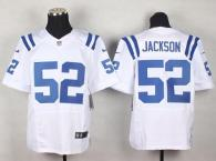 Nike Indianapolis Colts #52 D'Qwell Jackson White Men's Stitched NFL Elite Jersey
