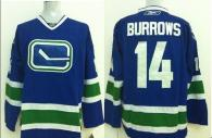 Vancouver Canucks -14 Alexandre Burrows Stitched Blue Third NHL Jersey