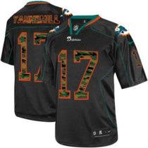 Nike Dolphins -17 Ryan Tannehill Black Stitched NFL Elite Camo Fashion Jersey