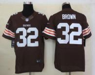Nike Cleveland Browns -32 Jim Brown Brown Team Color Men's Stitched NFL Elite Jersey
